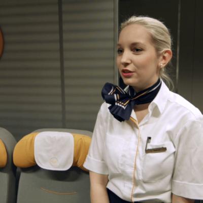 Reportage über Flugbegleiter