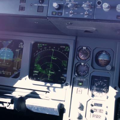 Dokudreh im Cockpit