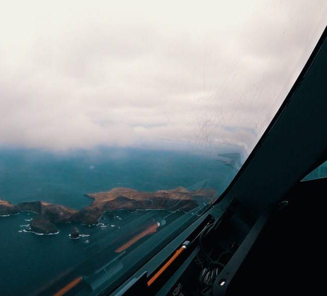 Cockpit Anflug auf Madeira